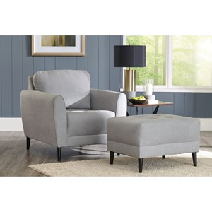 Contemporary Chair and Ottoman