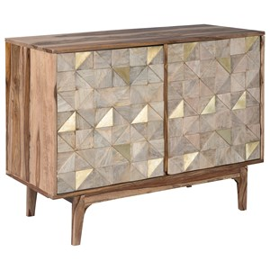 Accent Cabinet with Metal Accented Doors