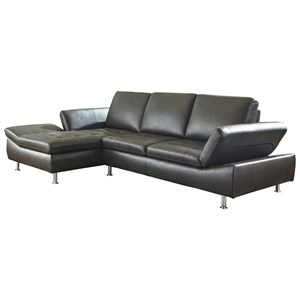 Contemporary 2 Piece Sectional with Chaise