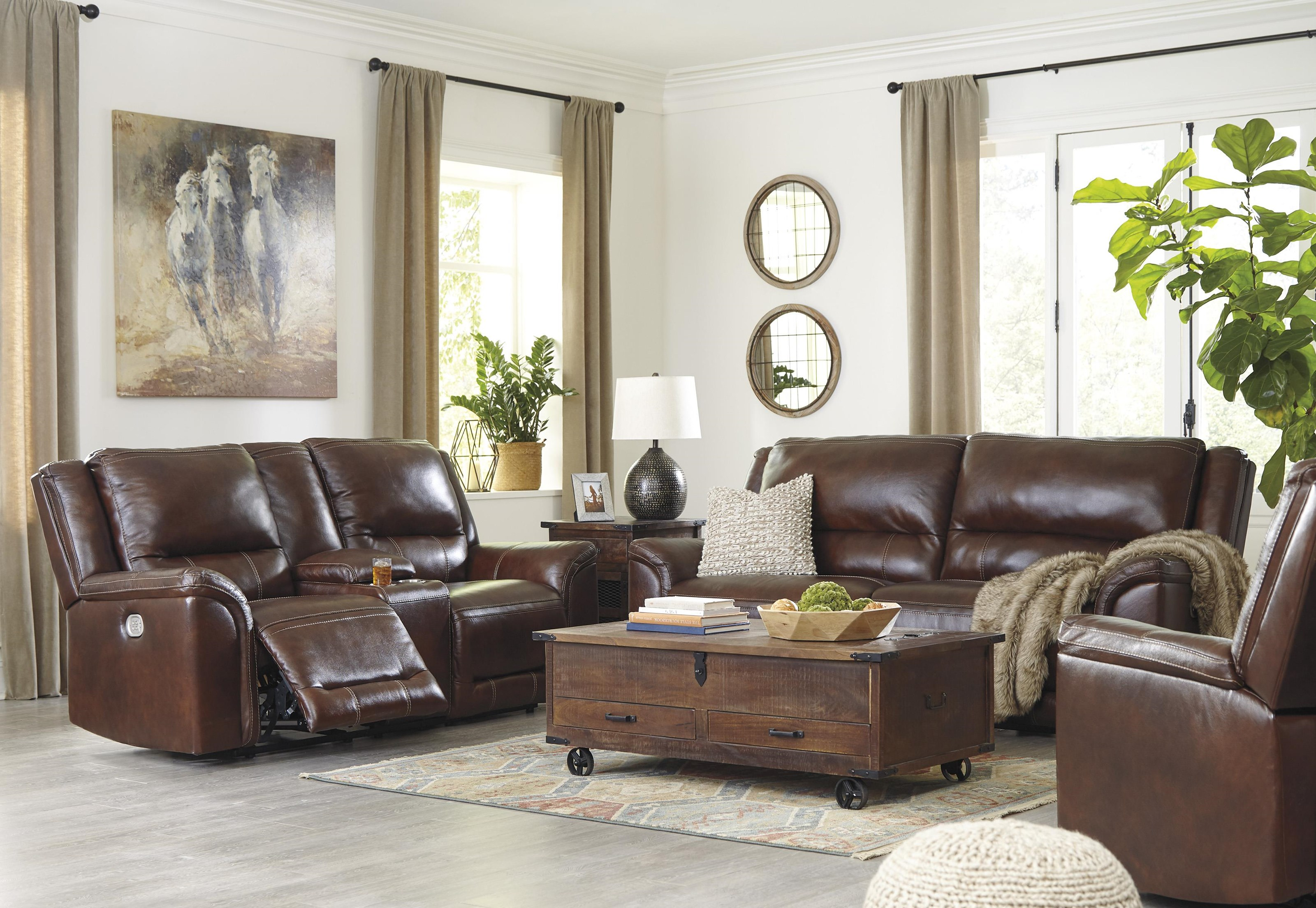 Catanzaro 2 Piece Power Reclining Living Room Set by Signature Design by Ashley at Sam Levitz Outlet