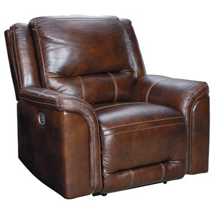 Power Recliner with USB Charging Port and Adj. Headrest