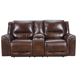 Power Reclining Console Loveseat with USB Charging Port