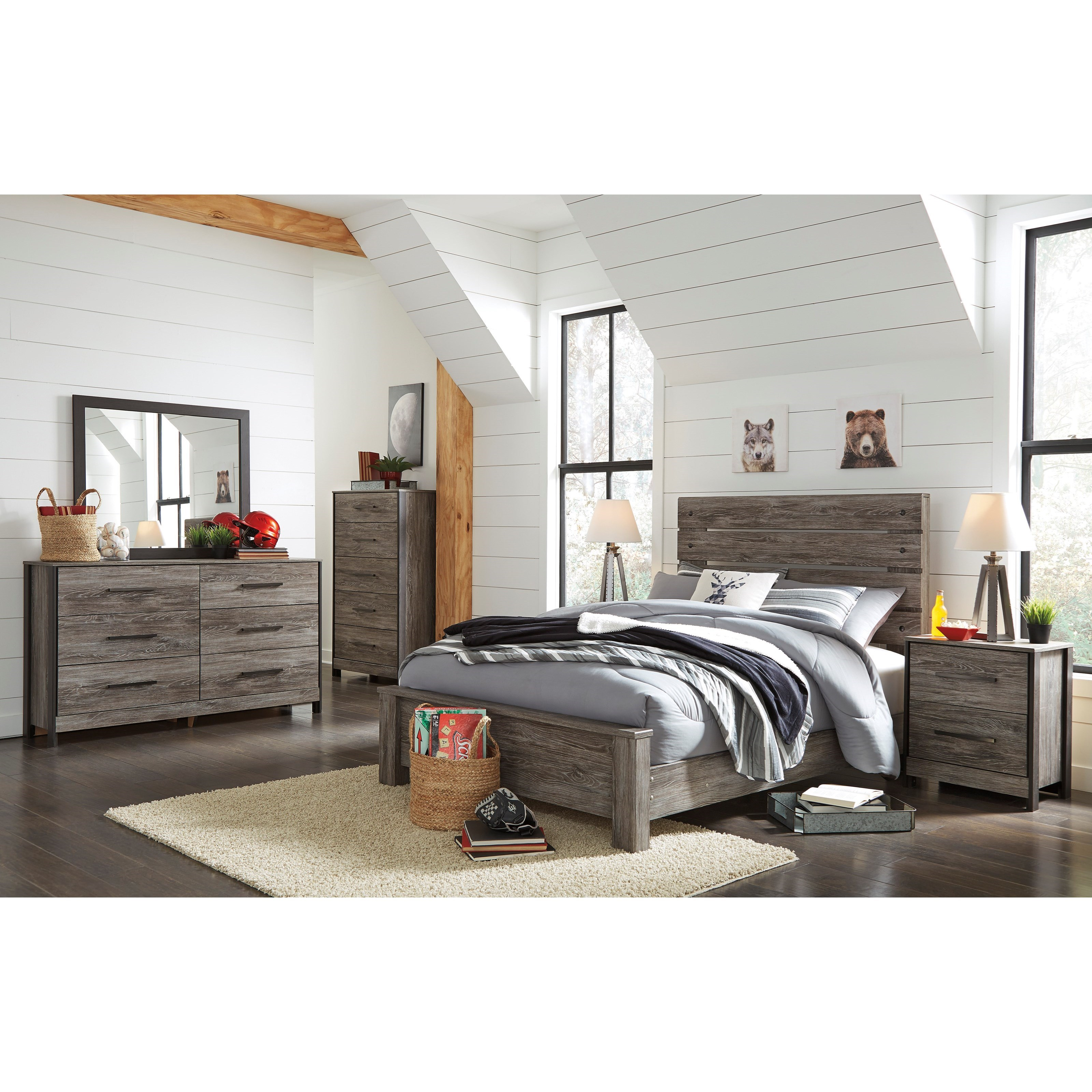 Cazenfeld Full Bedroom Group by Ashley (Signature Design) at Johnny Janosik