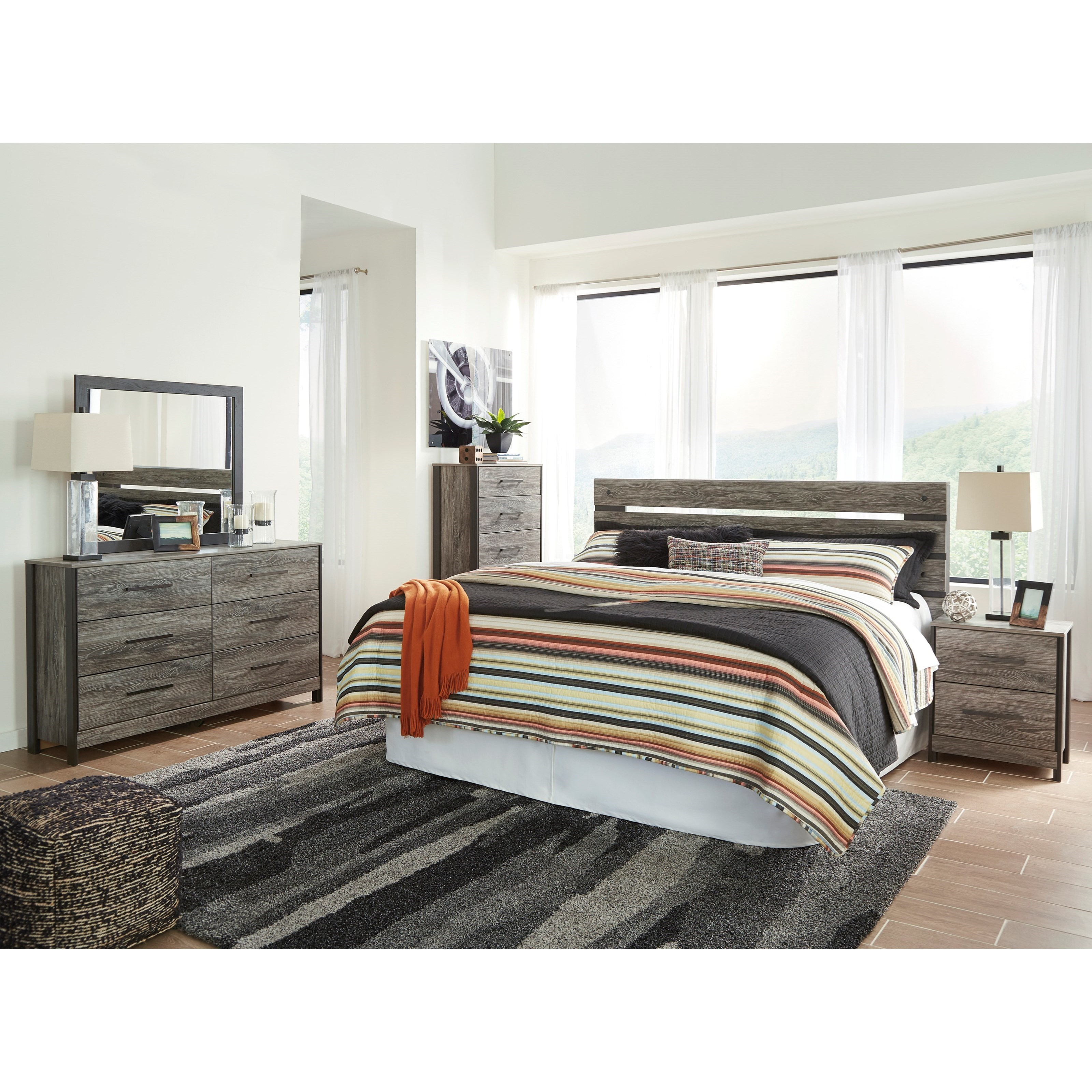 Cazenfeld King Bedroom Group by Ashley (Signature Design) at Johnny Janosik