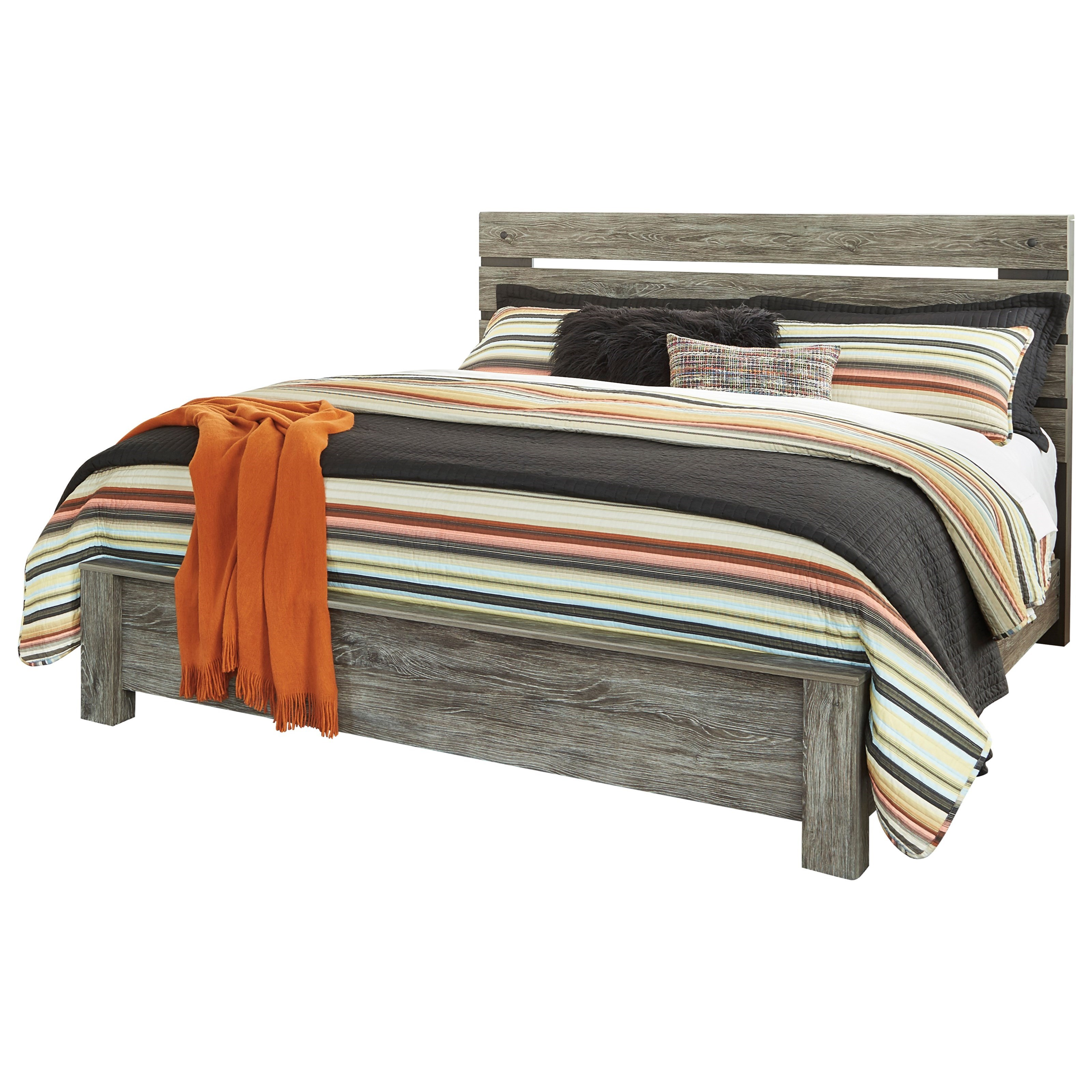 Cazenfeld King Panel Bed by Signature Design by Ashley at Furniture Barn