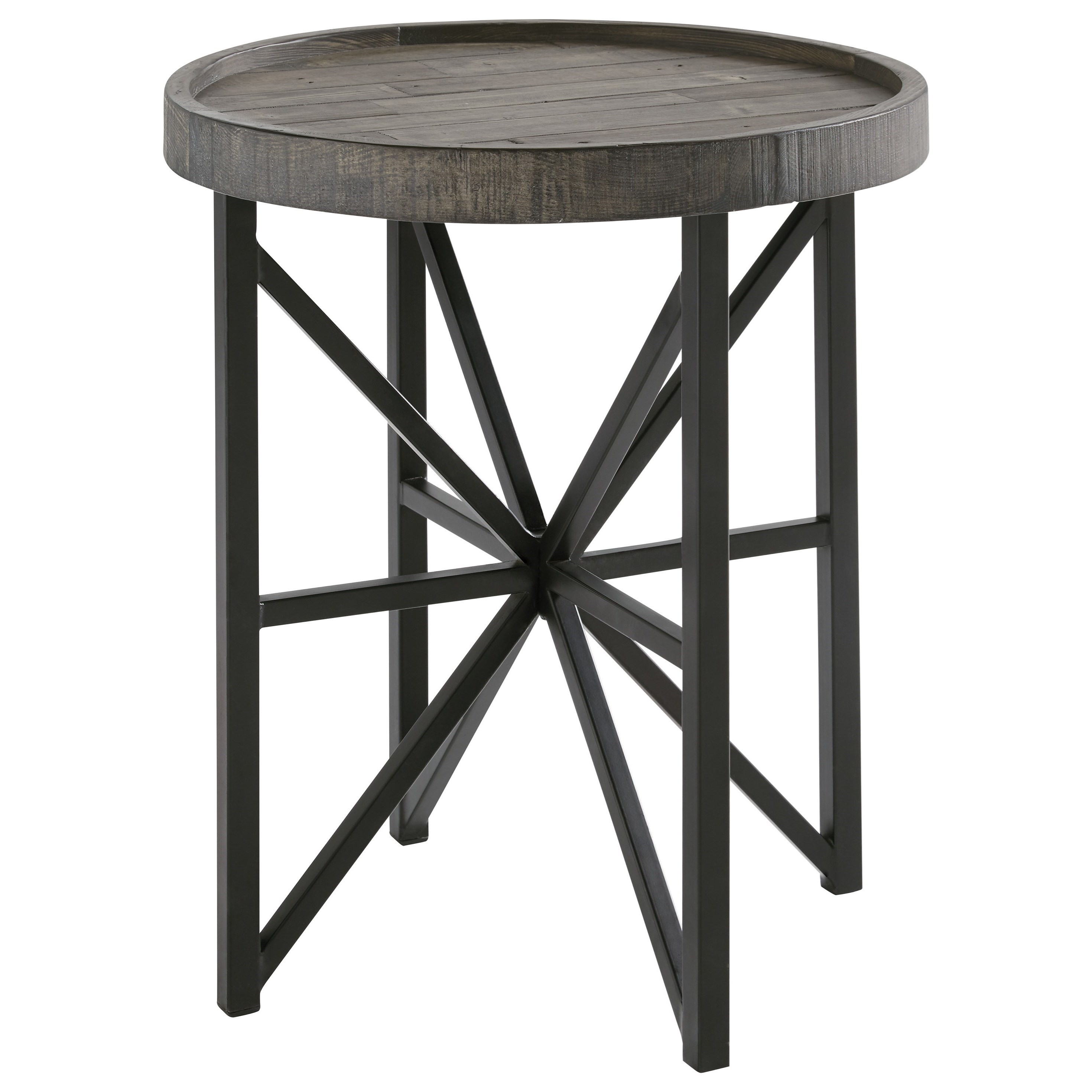 Cazentine Round End Table by Signature Design by Ashley at Lapeer Furniture & Mattress Center
