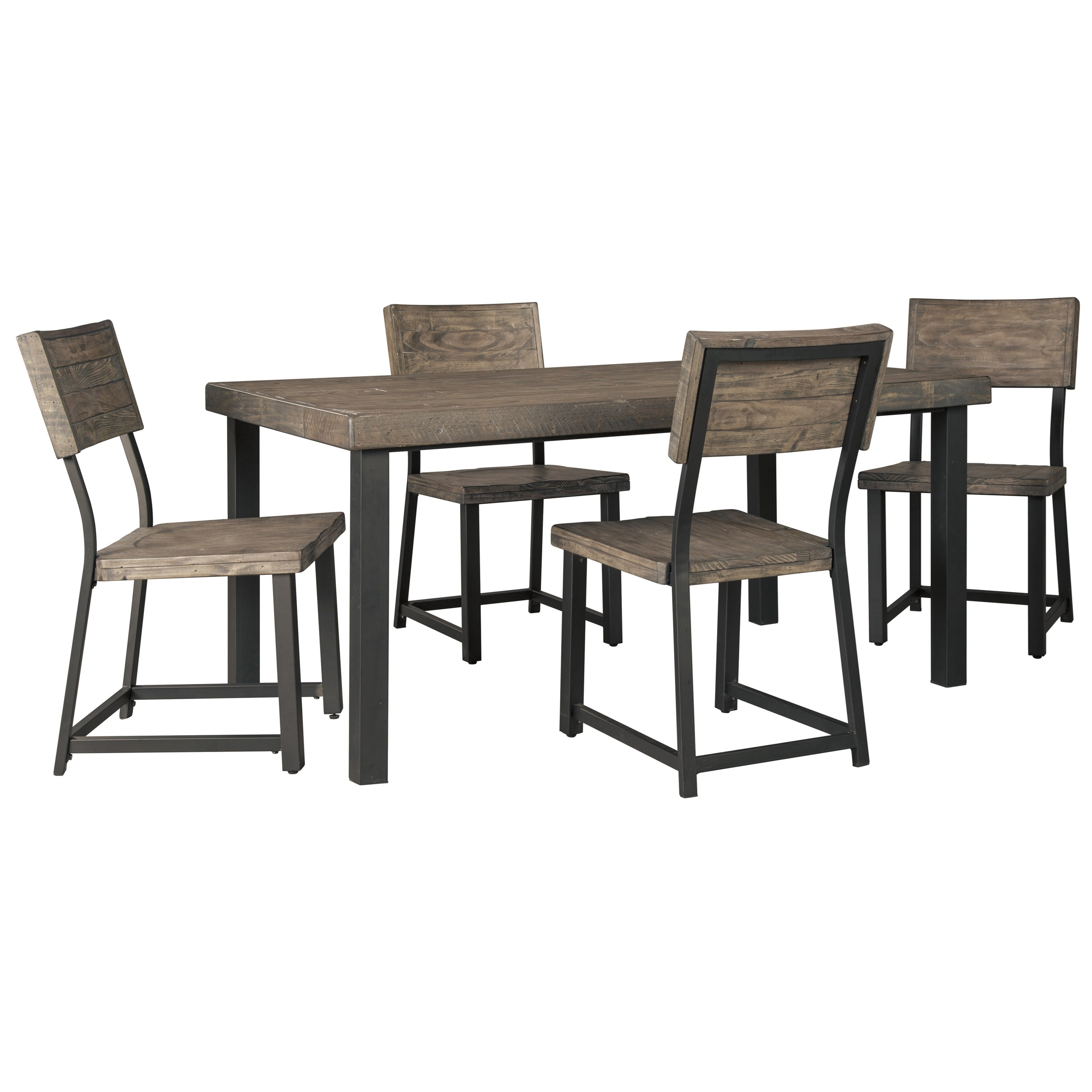 Cazentine 5-Piece Rectangular Dining Table Set by Signature Design by Ashley at Lapeer Furniture & Mattress Center