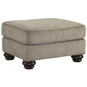 Traditional Ottoman with Bun Feet