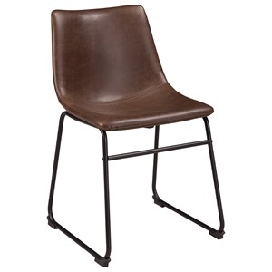 Contemporary Dining Upholstered Side Chair with Bucket Seat