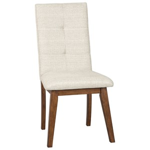 Dining Upholstered Side Chair with Stain Resistant Fabric