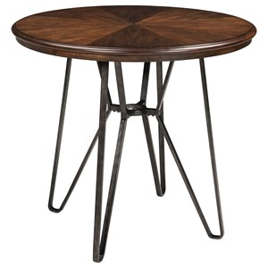 Round Dining Room Counter Table with Metal Hair Legs