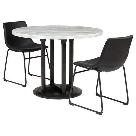 Centiar 3-Piece Round Dining Table Set by Ashley (Signature Design) at Johnny Janosik