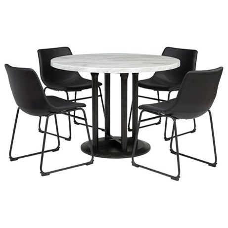 Centiar 5-Piece Round Dining Table Set by Signature Design by Ashley at Northeast Factory Direct