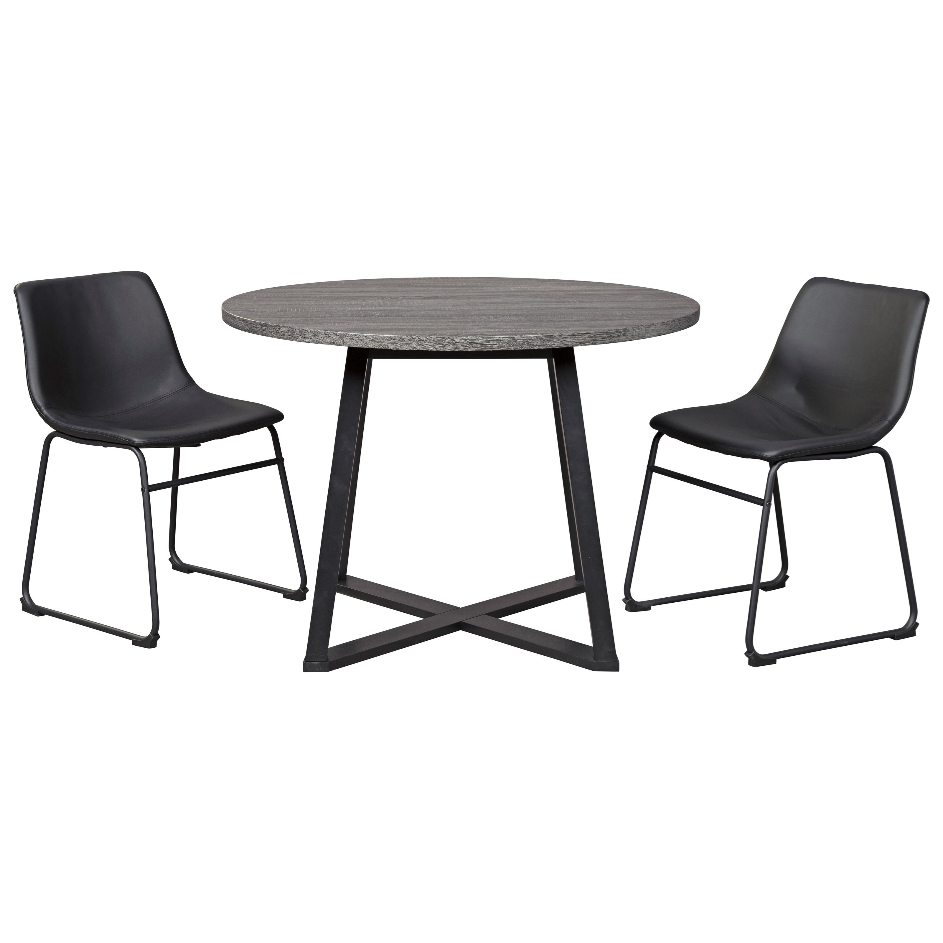 Centiar 3-Piece Round Dining Table Set by Signature Design by Ashley at Household Furniture