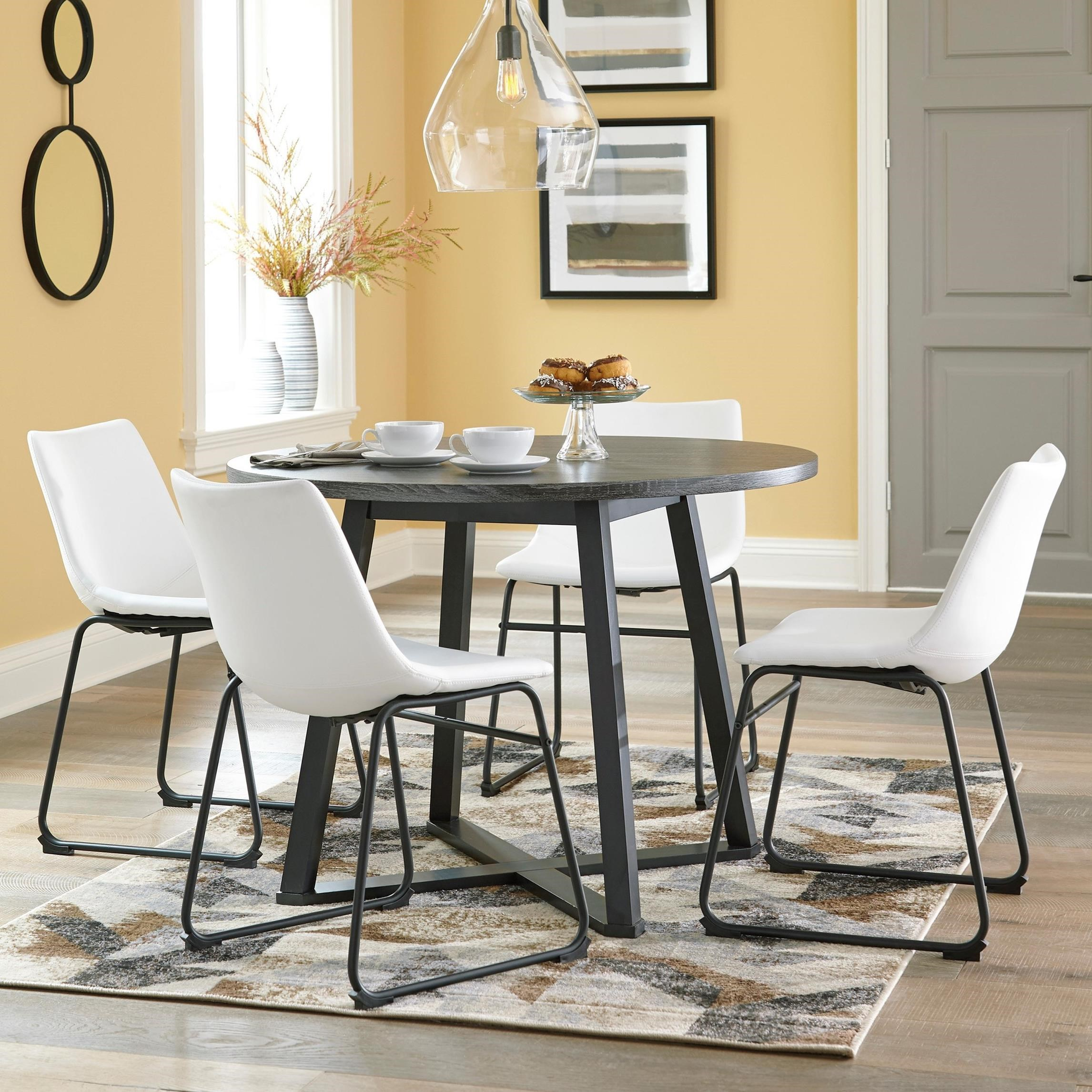 Centiar 5-Piece Round Dining Table Set by Signature Design by Ashley at Zak's Warehouse Clearance Center