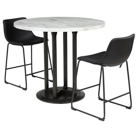 Centiar 3-Piece Round Counter Table Set by Signature Design by Ashley at Godby Home Furnishings