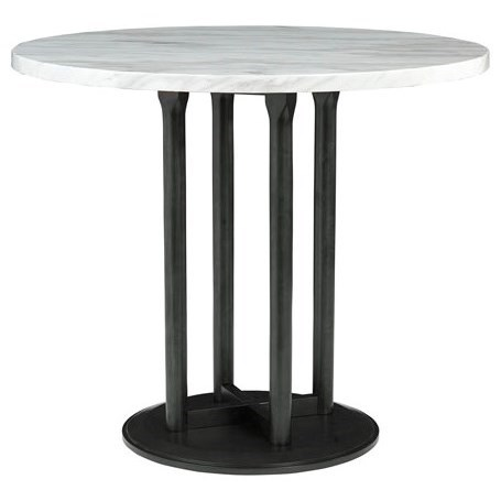 Centiar Round Dining Room Counter Table by Signature Design by Ashley at Northeast Factory Direct