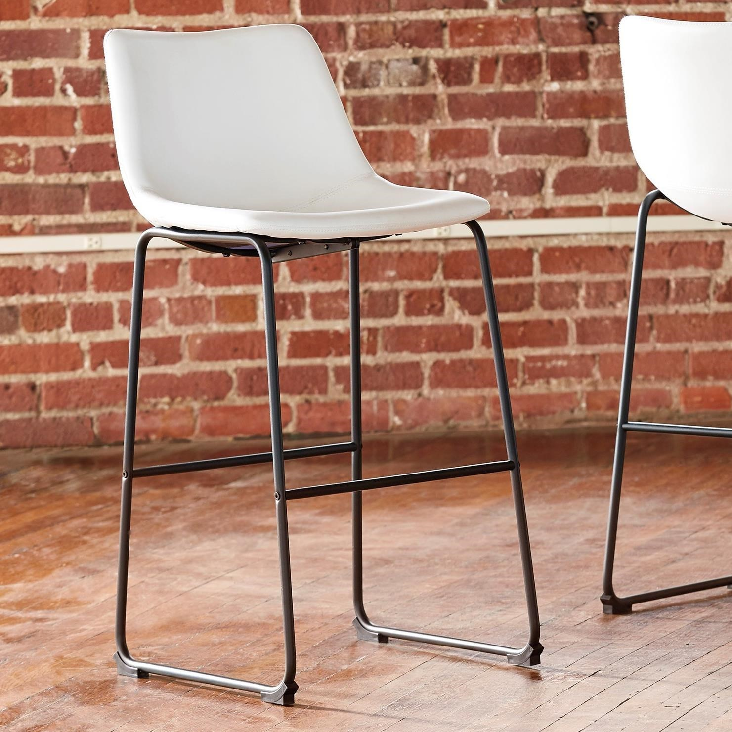 Centiar Tall Upholstered Barstool by Signature Design by Ashley at Northeast Factory Direct
