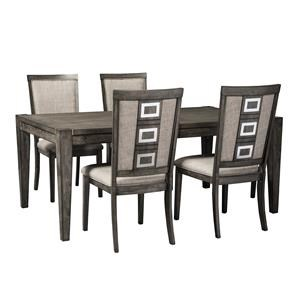 5-Piece Contemporary Rectangular Table and Chair Set