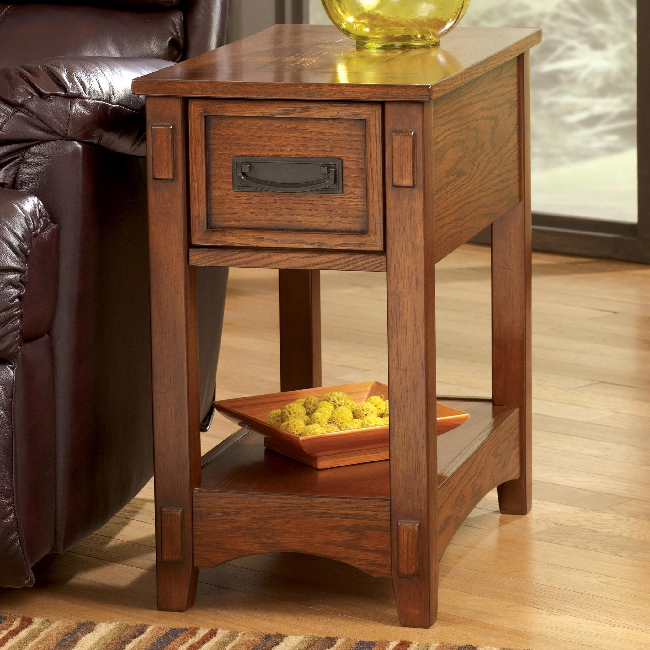 Breegin Chairside End Table by Signature at Walker's Furniture