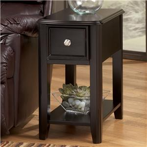 Dark Brown Contemporary Carlyle Chairside End Table
