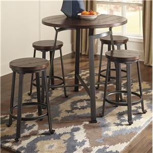 5-Piece Round Counter Table Set