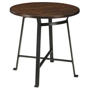 Industrial Style Round Dining Room Counter Table