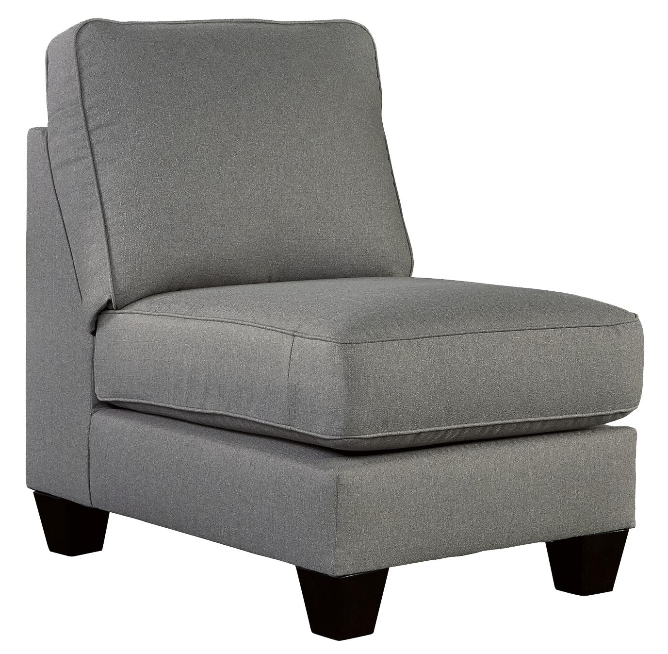 Chamberly - Alloy Armless Chair by Signature Design by Ashley at Coconis Furniture & Mattress 1st