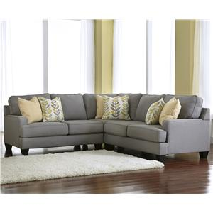 Modern 3-Piece Corner Sectional Sofa with Reversible Seat Cushions