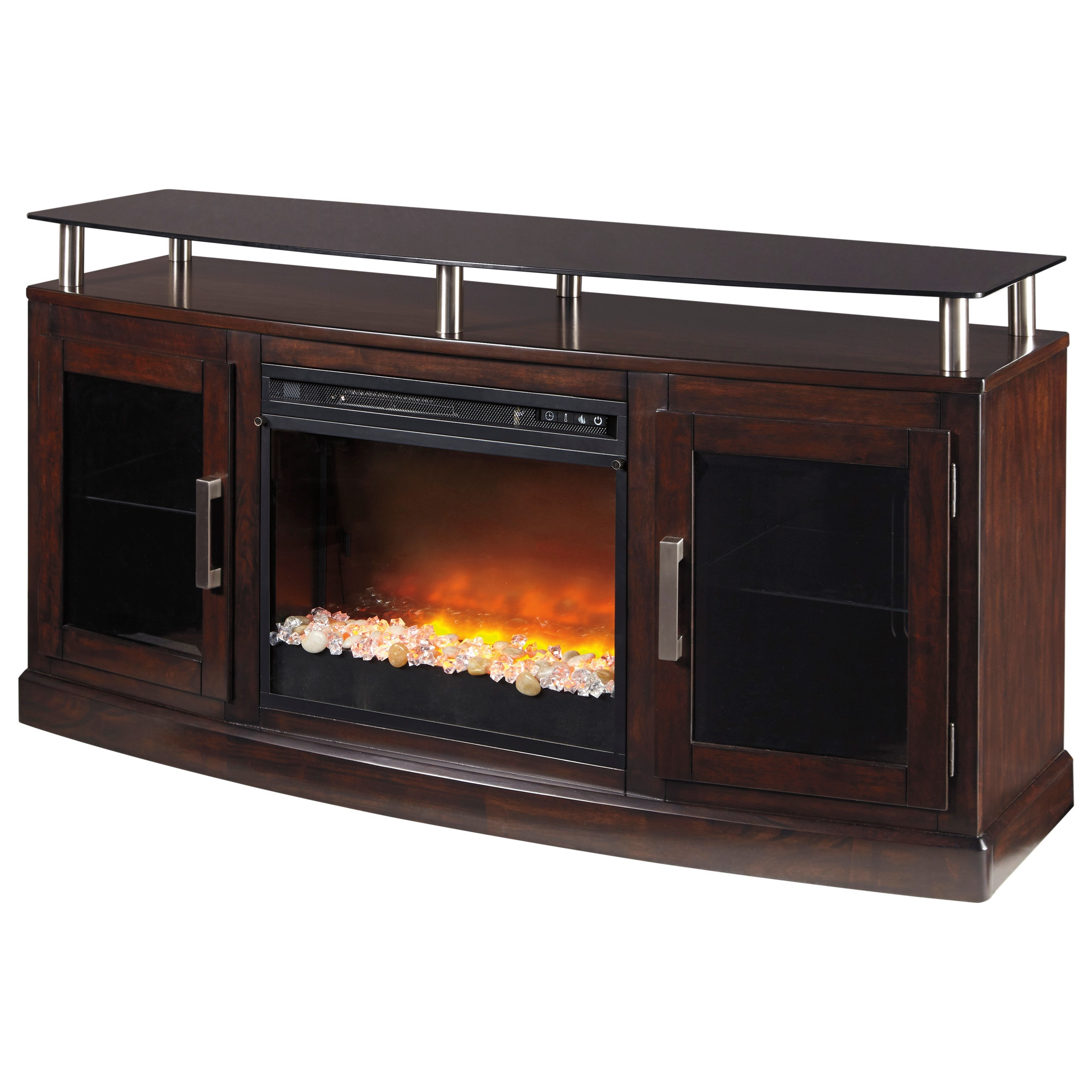 Chanceen Medium TV Stand with Fireplace Insert by Signature Design by Ashley at Nassau Furniture and Mattress
