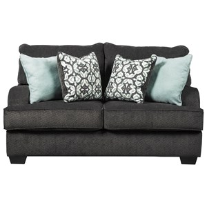 Casual Loveseat with English Arms