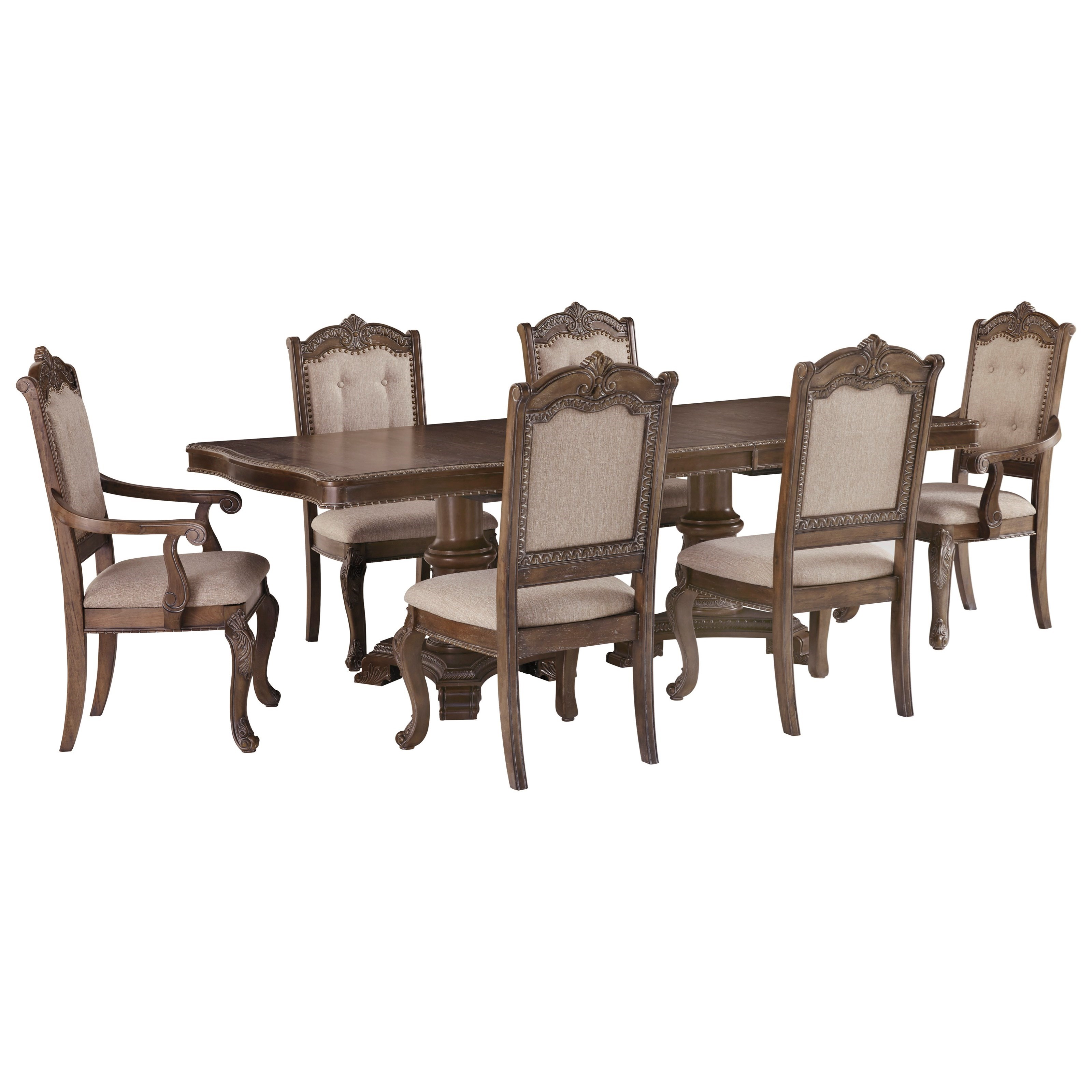 Charmond 7-Piece Rectangular Extension Table Set by Signature Design by Ashley at Beck's Furniture