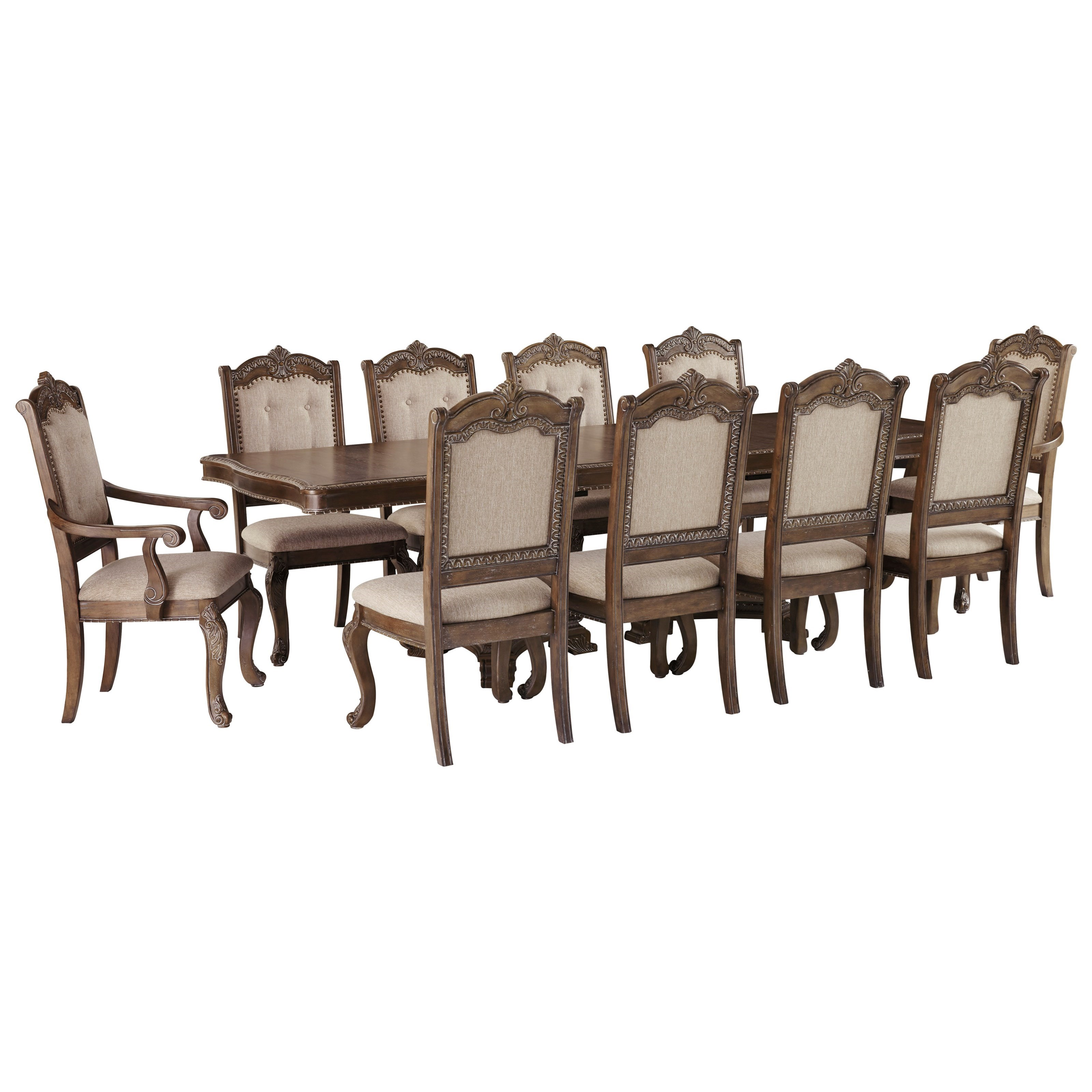 Charmond 11-Piece Rectangular Extension Table Set by Signature Design by Ashley at Sparks HomeStore