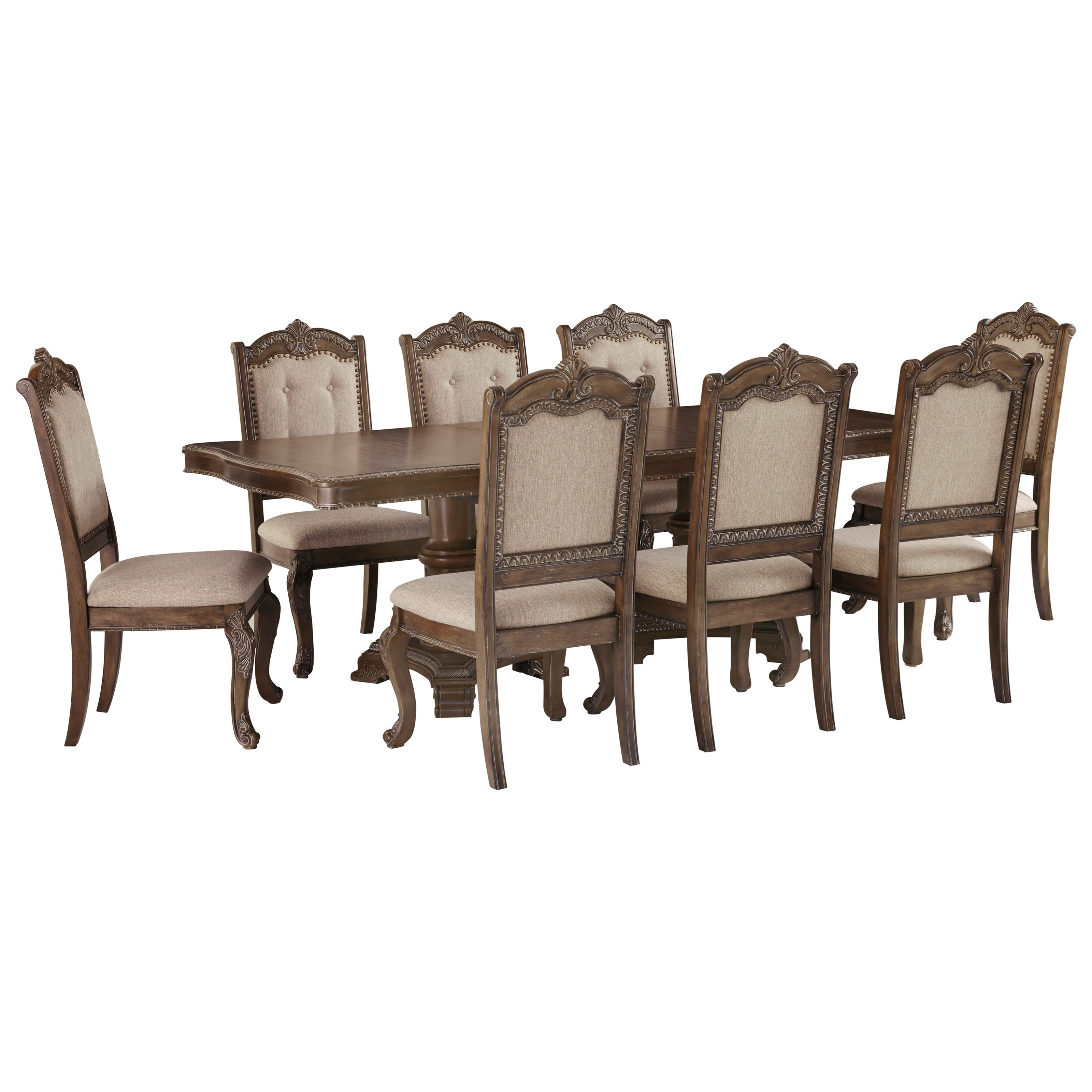 Charmond 9-Piece Rectangular Extension Table Set by Signature Design by Ashley at Northeast Factory Direct