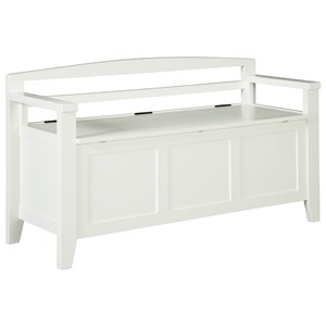 Storage Bench with Arched Back and Arms