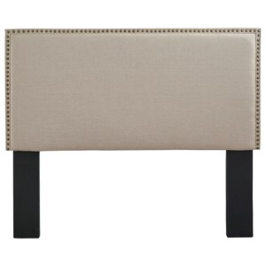 Full/Queen Upholstered Headboard with Nailhead Trim