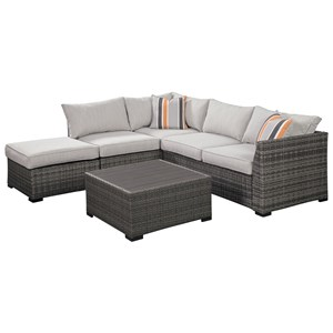 Contemporary Outdoor Sectional Set
