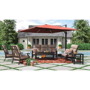 Outdoor Conversation Set with Umbrella