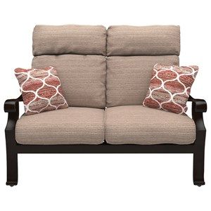 High Back Loveseat with Cushion