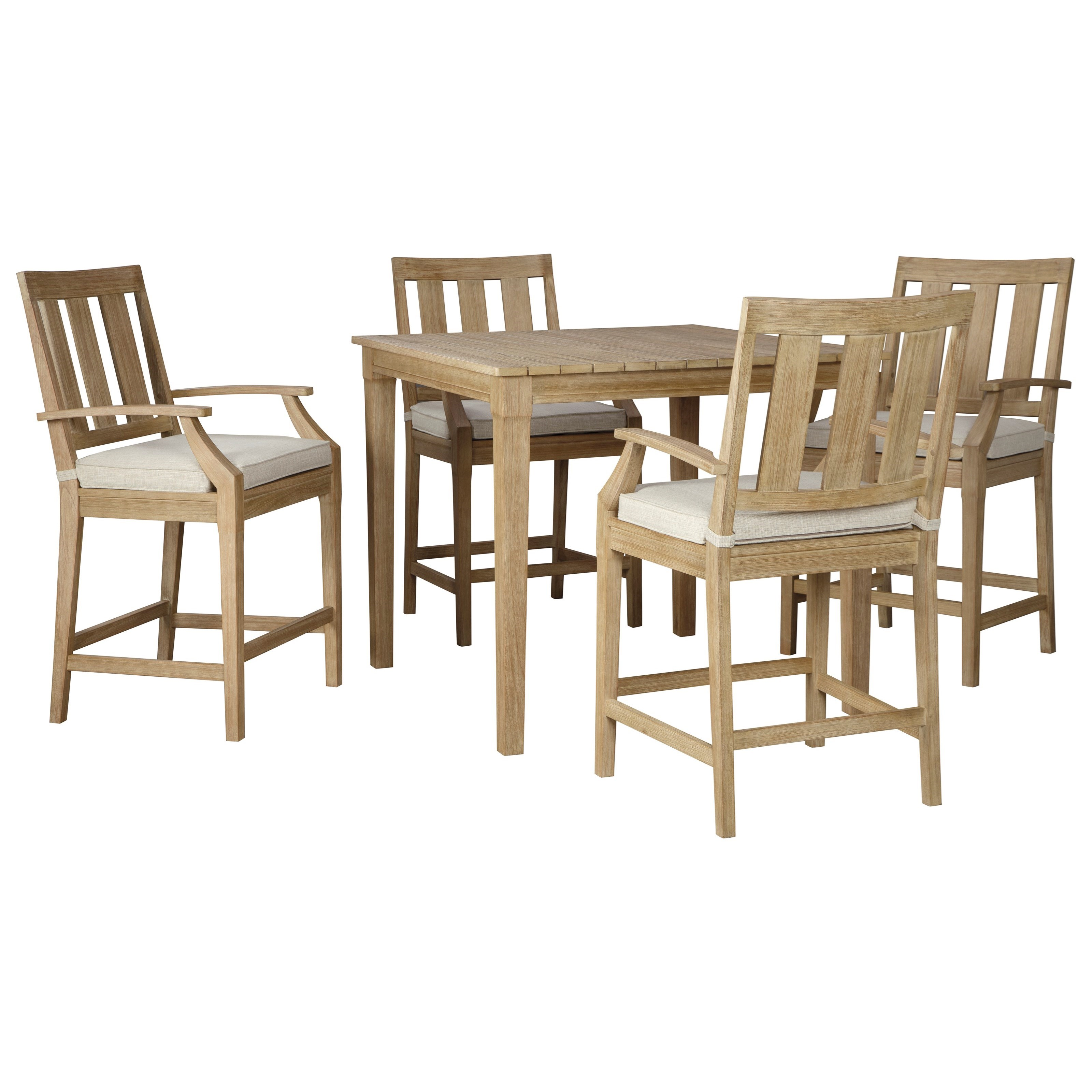 Clare View 5 Piece Bar Table Set by Signature at Walker's Furniture