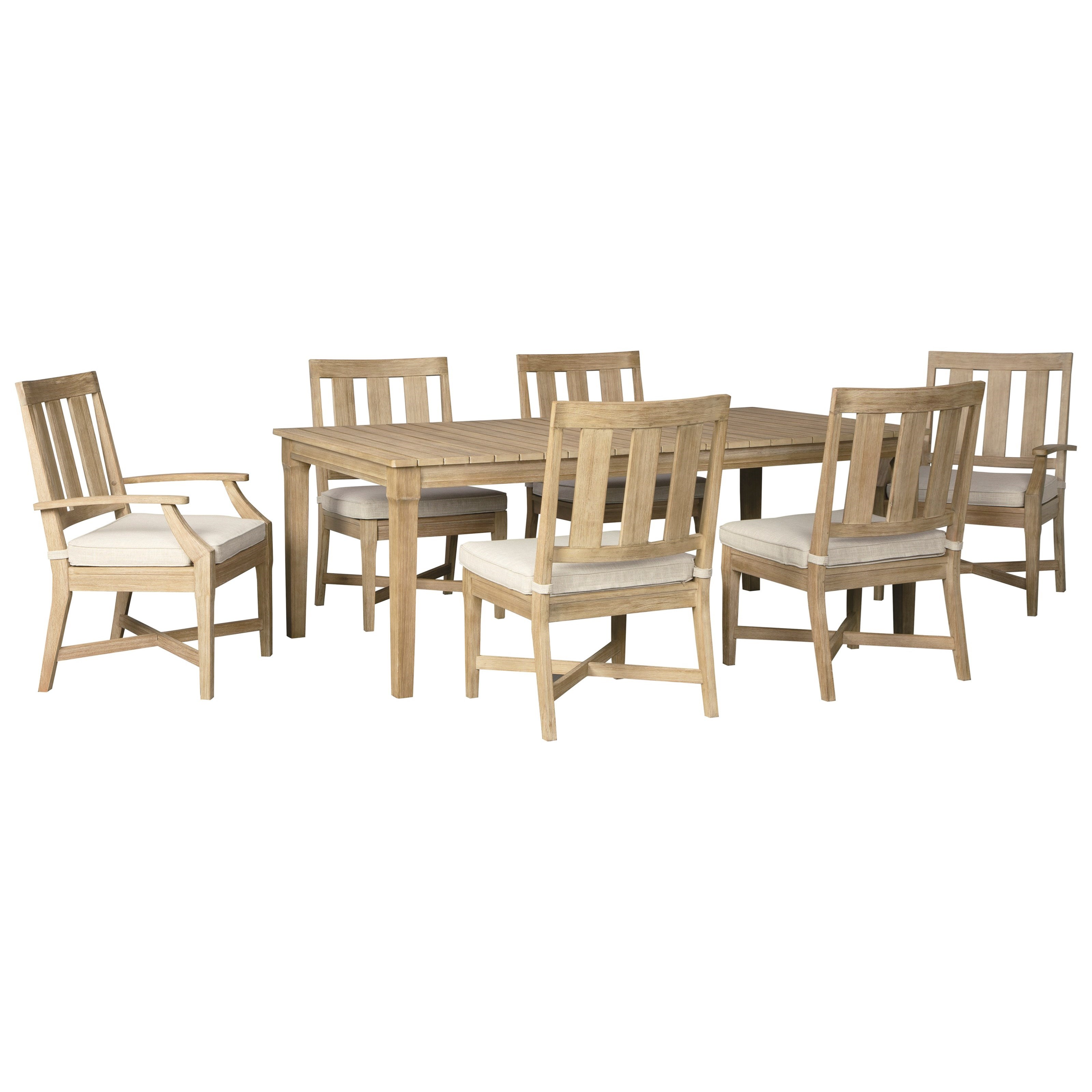 Clare View 7 Piece Outdoor Dining Set by Ashley (Signature Design) at Johnny Janosik