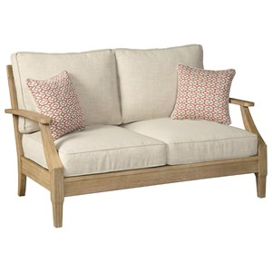 Casual Loveseat with Cushion