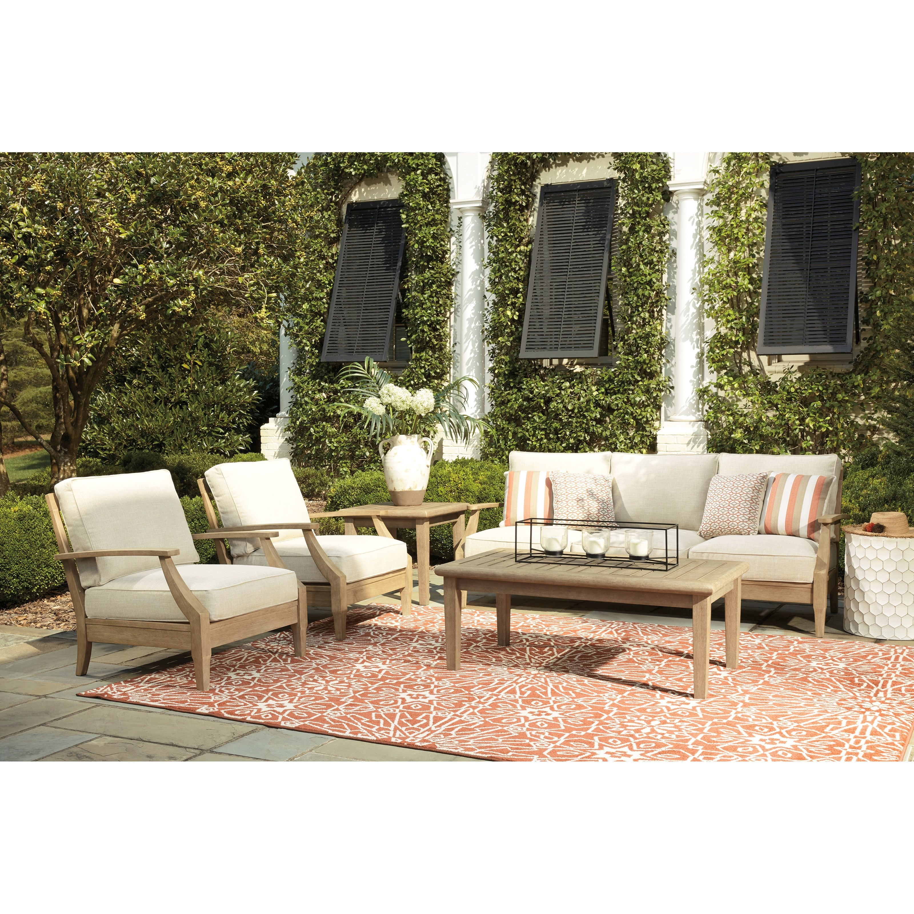 Clare View Outdoor Conversation Set by Signature Design by Ashley at Wayside Furniture