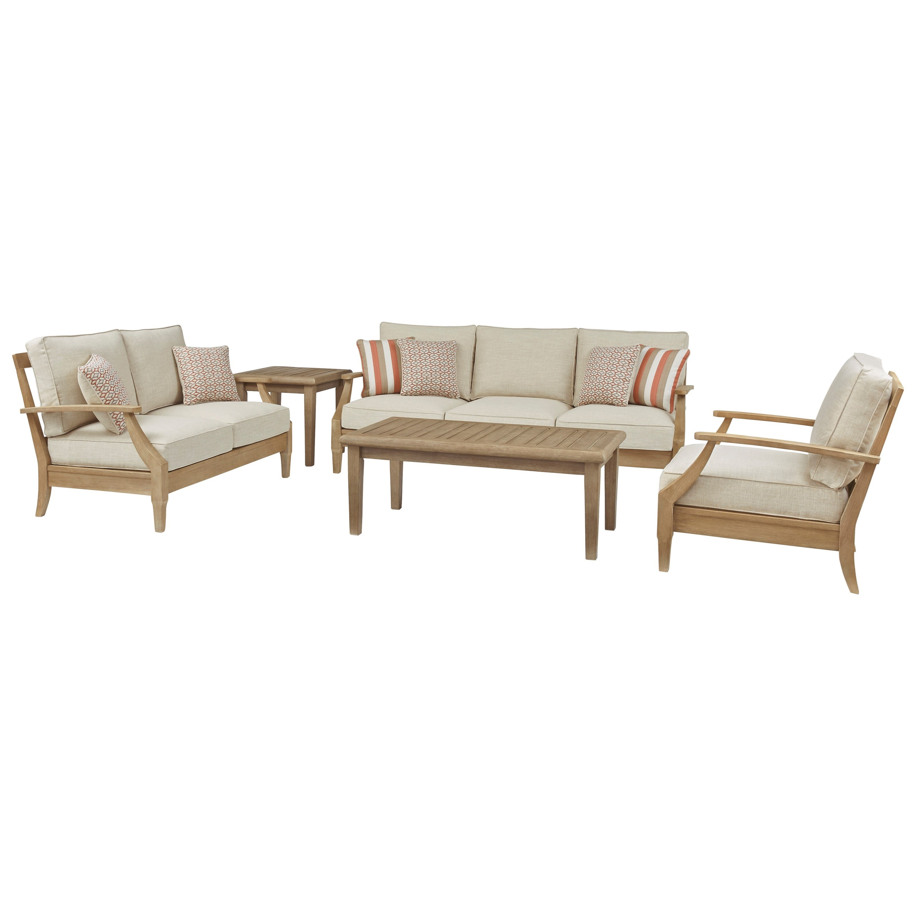 Clare View Outdoor Conversation Set by Signature Design by Ashley at HomeWorld Furniture