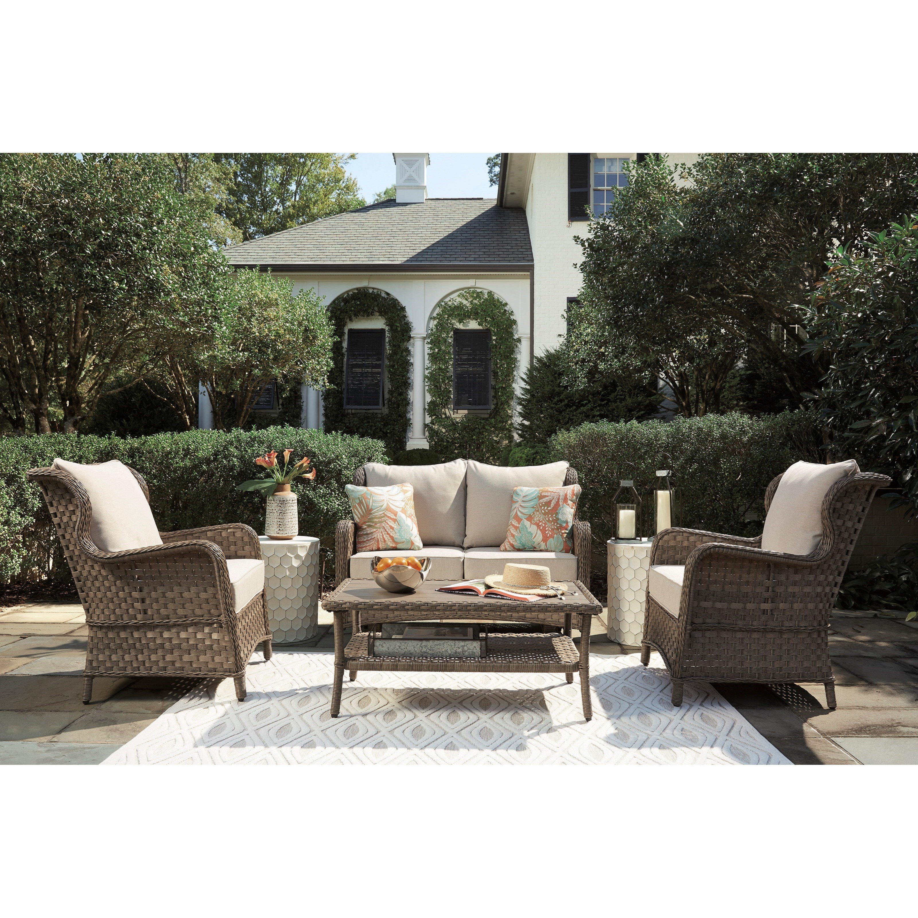 Clear Ridge Outdoor Conversation Set by Signature at Walker's Furniture