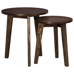 2-Piece Round Accent Table Set