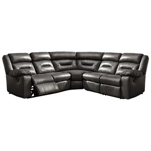 Faux Leather Reclining Sectional