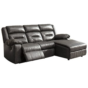 Three Piece Sectional Sofa with Chaise