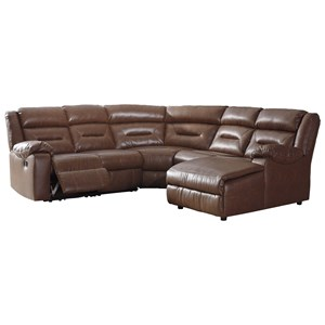Five Piece Sectional with Chaise