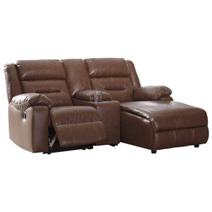 3-Piece Sectional Sofa with Chaise and Storage Console